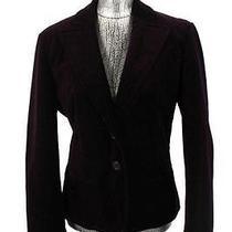 Womens Purple Velvet Express Blazer Jacket Stretch Cotton Occasion Large 12 Photo