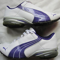 Womens Purple & White Puma Cell Athletic Sneakers Shoes Sz 7 Photo