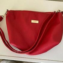 Womens Purse Bcbg Paris Color Red Adjustable Shoulder Strap Inside Pockets  Photo