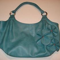 Womens Purse - Blue Nylon - Snaps Shut W/ Inside Zipper and Pockets Photo