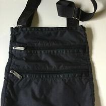 Womens Purse Nylon Lesportsac Crossbody Bag Triple Zip Balck Photo