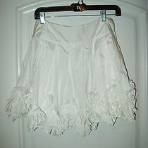 Womens Rachel & Chloe White M Ruffled Mini Skirt  Gr2-B2 Photo