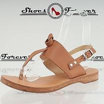 Womens Rag & Bone Brown / Tan Leather Thong Sandals Shoes Sz. 37 Excellent Photo