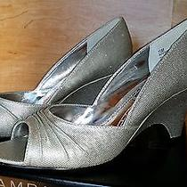 Womens Rampage Risque Open Toe Wedge Silver 7.5m Photo