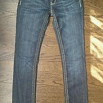 Womens Re Rock for Express Thick Stitch Denim Jeans Size 0r New Without Tags Photo