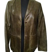 Womens Real Leather Jacket Size S Gap Vintage Photo