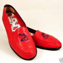 Womens Red Hat Society Comfort Loafer Keds Size 8.5 M Leather Moccasins Flats Photo