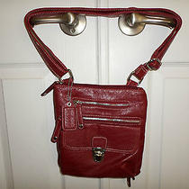 Womens Red Leather Naturalizer Leather Purse Photo