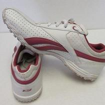 Womens Reebok White Leather Slim Fashion Tennis Walking Sneaker Shoe Sz 10 Photo