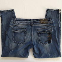 Womens Rerock for Express Size 29 8 Jeans Skinny Crop Zippers Photo