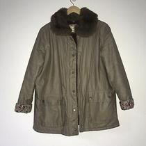 Womens River Island Size 10 Barbour Style Coat With Fur Collar Photo