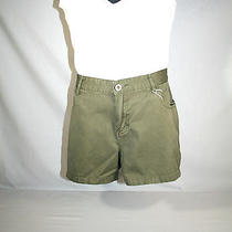 Womens Roxy Basic Military Green Quicksilver Casual Shorts 100% Cotton Size 13  Photo