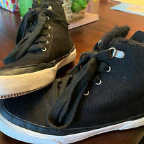 Womens Roxy Ivan Fur Lined Solid Black Size 9 High Top Sneakers Athletic Leisure Photo