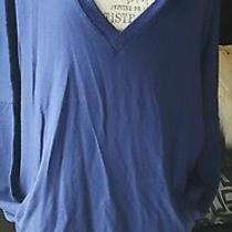 Womens Royal Blue v-Neck Sweater Express Nwt Photo