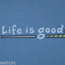 Womens S Life Is Good Golf Club Golfing S/s Tee Shirt on Ocean Blue Nwt New Photo
