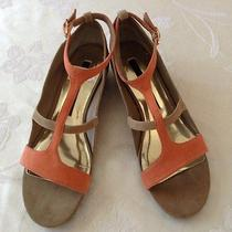Womens Salmon/tan Flats/shoes/open-Toe Kensie Sz 8.5 Medium New W/o Box Photo