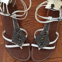 Womens Sam Edelman for American Eagle White Gladiator Sandal Size 11 Photo
