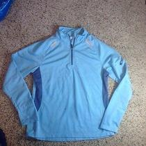 Womens Saucony 1/4 Zip Top Pullover Jacket Bright Blue Medium Ked Photo