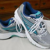 Womens Saucony Running Shoes Sz 8 Cohesion 9 Silver & Blue Photo