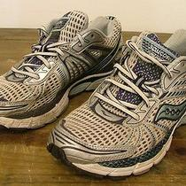 Womens Saucony Triumph 8 Running Gym Shoes Sneakers Usa Size 9 White Blue Silver Photo