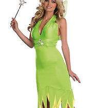 Womens Sexy Playful  Tinkerbell Fairy Pixie Dust Fantasy Party Costume Set Xl Photo