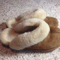 Womens Sheepskin Slippers  Fits Women 7  Tan Genuine Sheepskin Slippers Ked Photo