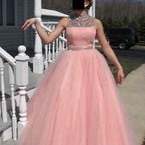 Womens Sherry Hill Prom Ball Formal Quinceanera Blush Pink Special Occasion 6 Photo