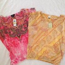 Womens Shirts Medium Lot Nwt. Pink Yellow  Free Shipping1 Photo