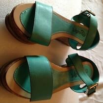 Womens Shoes Lolli Pop Turquoise Whcopers Wedge Size 7.5 New in Box Photo