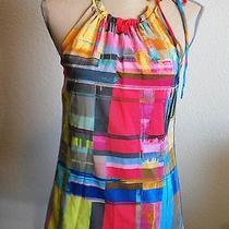 Womens Silk Blend Trina Turk Casual Evening Work Career Blouse Dress Top Sz S Photo