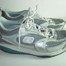 Womens Silver Aqua Skechers Shape Ups Walking Athletic Sneakers Shoes Size 9 M Photo