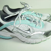 Womens Silver Aqua Wihte Nike Running Fitsole Athletic Sneakers Shoes Size 7 M Photo