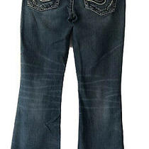 Womens Silver Jeans Aiko Boot Cut Embroidered Pocket Stretch Jeans Size 30x29  Photo
