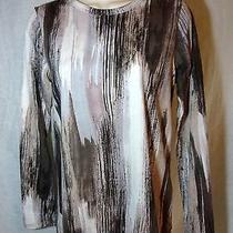 Womens Simply Vera Wang Small M Medium Gray Long Sleeved Shirt Nwt Cotton Casual Photo