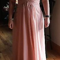 Womens Size 10/12 Bridesmaid Dress Blush Color Strapless Photo