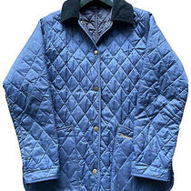 Womens Size 10 Barbour Shaped Liddesdale Royal Blue Quilted Jacket Small Ladies Photo