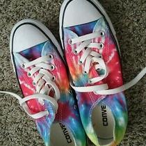 Womens Size 7 Rainbow Tie Dyed Converse Sneakers Photo