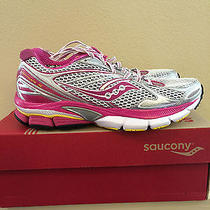 Womens Size 7 Saucony 10178-1 Powergrid Hurricane 15 Pink White Running Shoes Photo