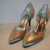 Womens Size 8.5 M Stuart Weitzman Bridal Collection Twice Chrome  Photo