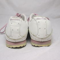 Womens Size 8.5 White Pink Skechers Athletic Shoes Free Shipping Glitter Girly Photo