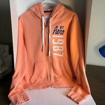 Womens Size Large Aeropostale Peach Hoodie Fall Jacket Photo