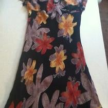 Womens Size Medium Summer Dress Floral Polyester Photo