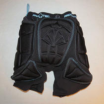 Womens Size S Black/aqua Pro Tec Padded Impact Snowboard Shorts Euc Photo
