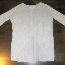 Womens Size Small Light Gray Sweater h&m Long Sleeve Knitted Long Loose Fit Cute Photo