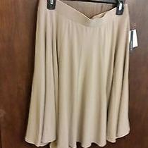 Womens Skirt Nwt Grace Elements Retailed Price 50.00 Size L Color Beige Photo