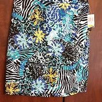 Womens Skirt Nwt Grace Elements Retailed Price 50.00 Size M Color Blue Photo