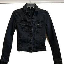 Womens Small Aeropostale Black Jean Jacket Black Denim Jacket Euc Photo