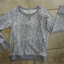 Womens Small Gap Design & Crafted Gray Animal Print Top S Sm Sweatshirt Style S Photo