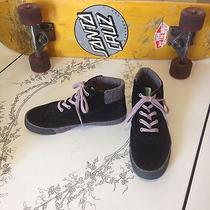 Womens Sneakers Keds Black Sz 6.5 High Tops Lace Up Photo