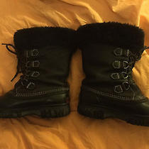 Womens Sorel Black Snow Boots Size 8. Photo